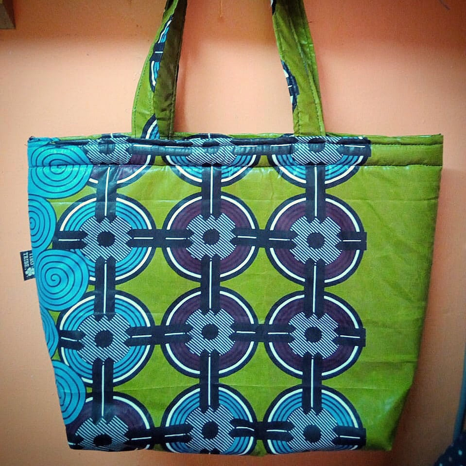 Limuru green tote beach bag