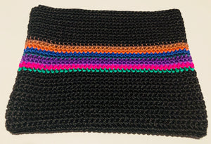 Black purse with colour strip purse