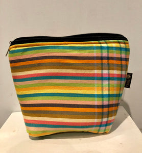 Peponi stripes kikoi essential oil / travel bag (10 pockets)