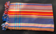 Kenyan Kikoi wrap 7 - Blue, Orange and Red
