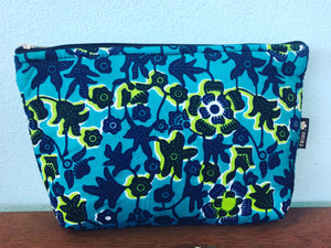 Large marine blue beauty / travel bag