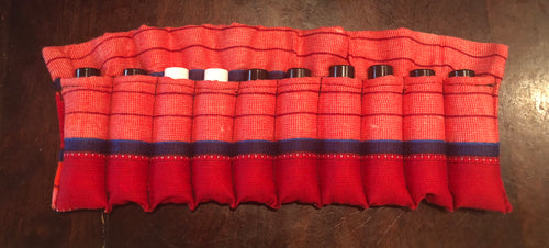 Red Maasai - 10ml Essential Oil Roller Pouch (10 pockets)