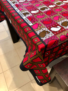 Ndio - Double Pink, Red Kanga Cloth