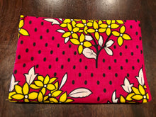 Pamoja - Double Pink, White, Yellow Floral Kanga