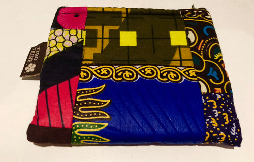 Medium tiwi kitenge square patchwork purse