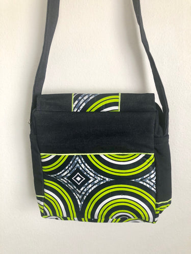 Lime Sun Denim Cross Body Bag