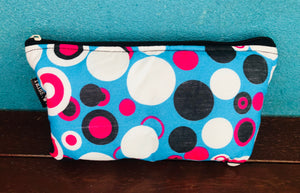 Watamu turquoise and pink essential oil purse (8 pockets)
