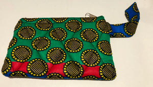 Mini red, green coin purse