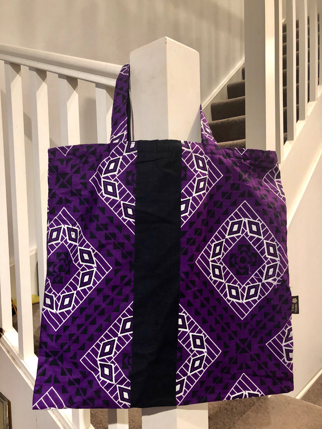 Purple love kanga tote bag