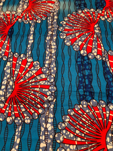 Imara Red and Blue Kitenge