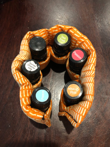 Honeycomb 5ml essential oil bottle pouch (6 pockets)