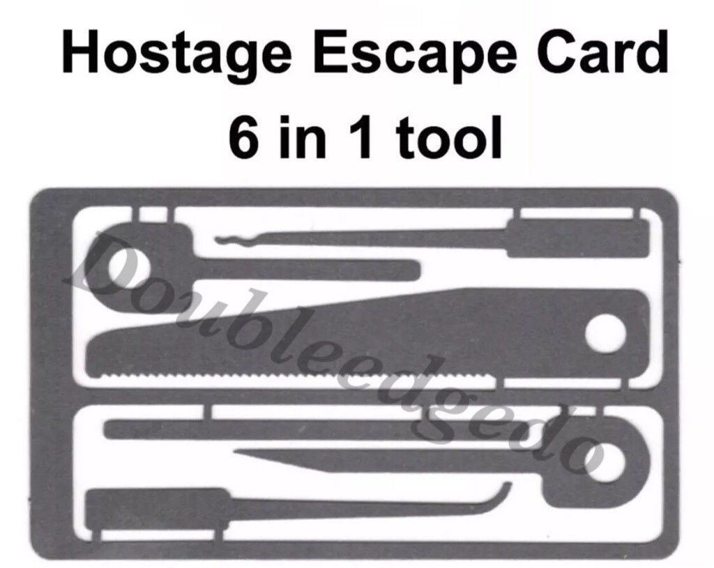 Hunting & Escape Hostage Combo Tool Set +Fire Starter Necklace & Case - Outback Tactical