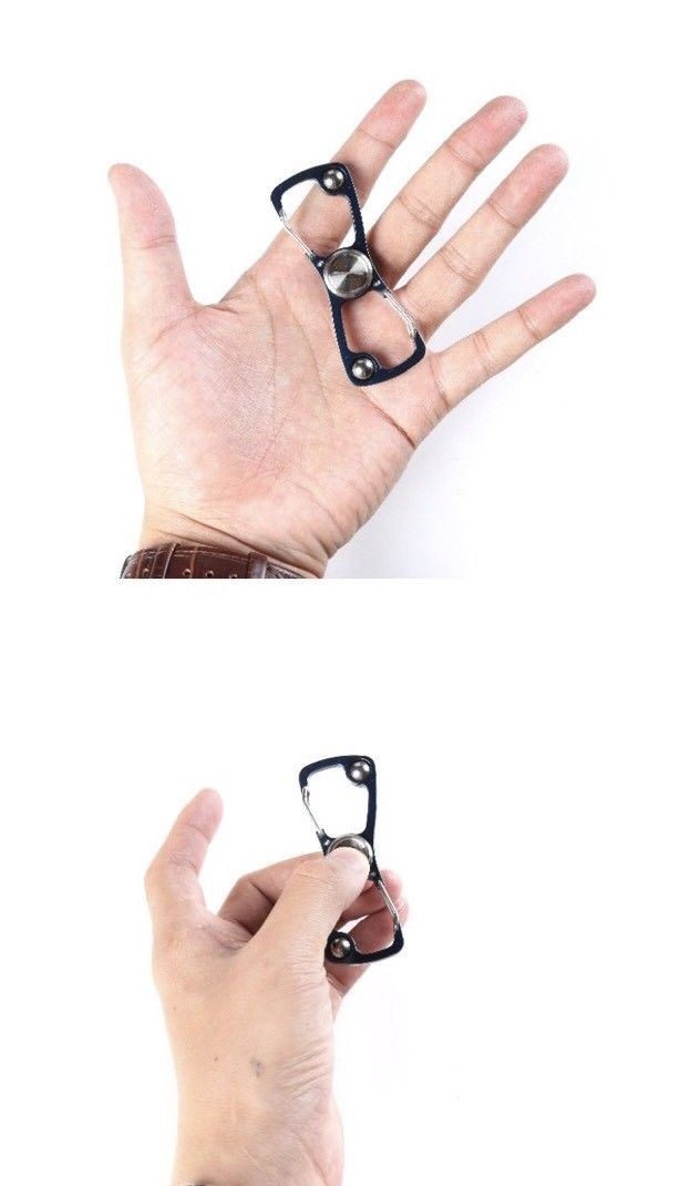 EDC Carabiner Spinner Survival S Shape, Zinc Alloy Climbing Buckle Clip Tool - Outback Tactical