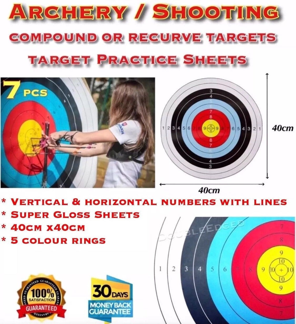 X7 ARCHERY SHOOTING TARGETS COMPOUND OR RECURVE 40x40cm - Outback Tactical