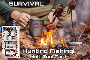 SURVIVAL 22-1 Fishing Hunting Card Multi Tool Hooks Snake Locks Needles - Outback Tactical