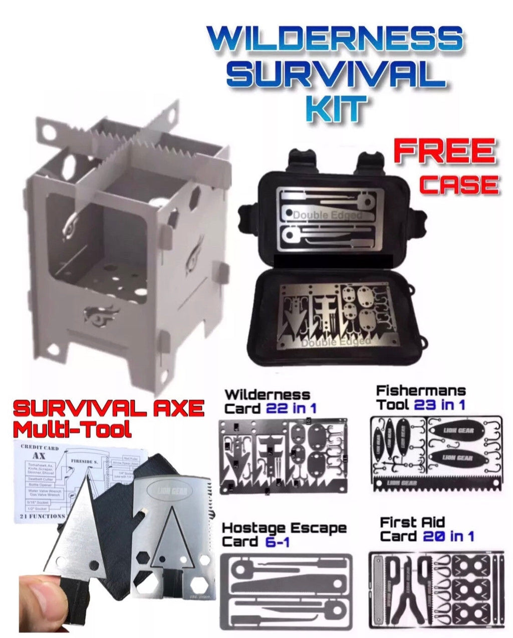 Ultimate Survival Kit With Mini Stainless Steel Stove Set - Outback Tactical
