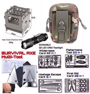 Ultimate Pro Survival Kit Set Hunting Fishing First Aid Large Stove Flashlight - Outback Tactical