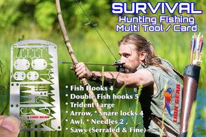 EDC 24-1 Hunting Fishing Wilderness Survival Card Tool FREE DELIVERY - Outback Tactical