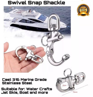 Swivel Snap Shackle Marine Grade 70mm FREE DELIVERY AUSTRALIAN STOCK - Outback Tactical
