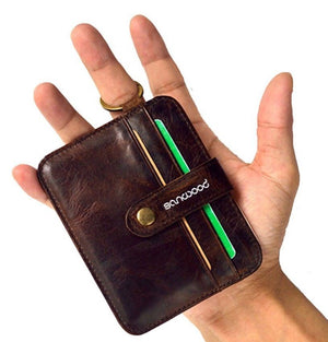 LEATHER WALLET SURVIVAL 4 Sleeve Set  With 22-1 Fishing And Hunting Card Tool - Outback Tactical