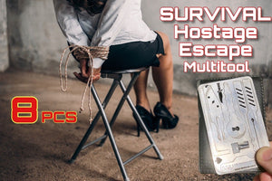 8 PCE EDC Escape Hostage Survival Card MultiTool Credit Card Size FREE DELIVERY - Outback Tactical