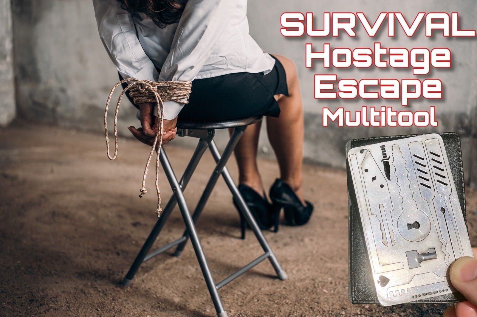 EDC Escape Hostage Survival Card Multi Tool Credit Card Size FREE DELIVERY - Outback Tactical