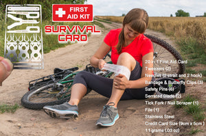 First Aid Medic Survival Card Tool Set Butterfly Clips Safety Pin Tick Removal - Outback Tactical