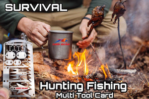 EDC 24-1 Hunting Fishing Wilderness Survival Card Tool Snare Locks Hooks - Outback Tactical