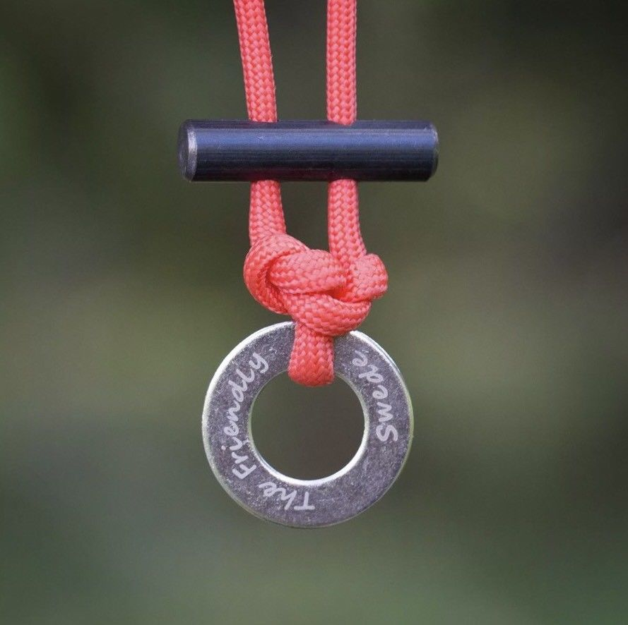 Paracord FireStarter Necklace With Flint & Scraper Or Striker - Outback Tactical