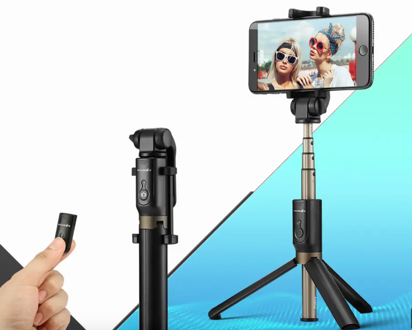 IPhone Holder Phone Stand Tripod Selfie Stick with Bluetooth Remote