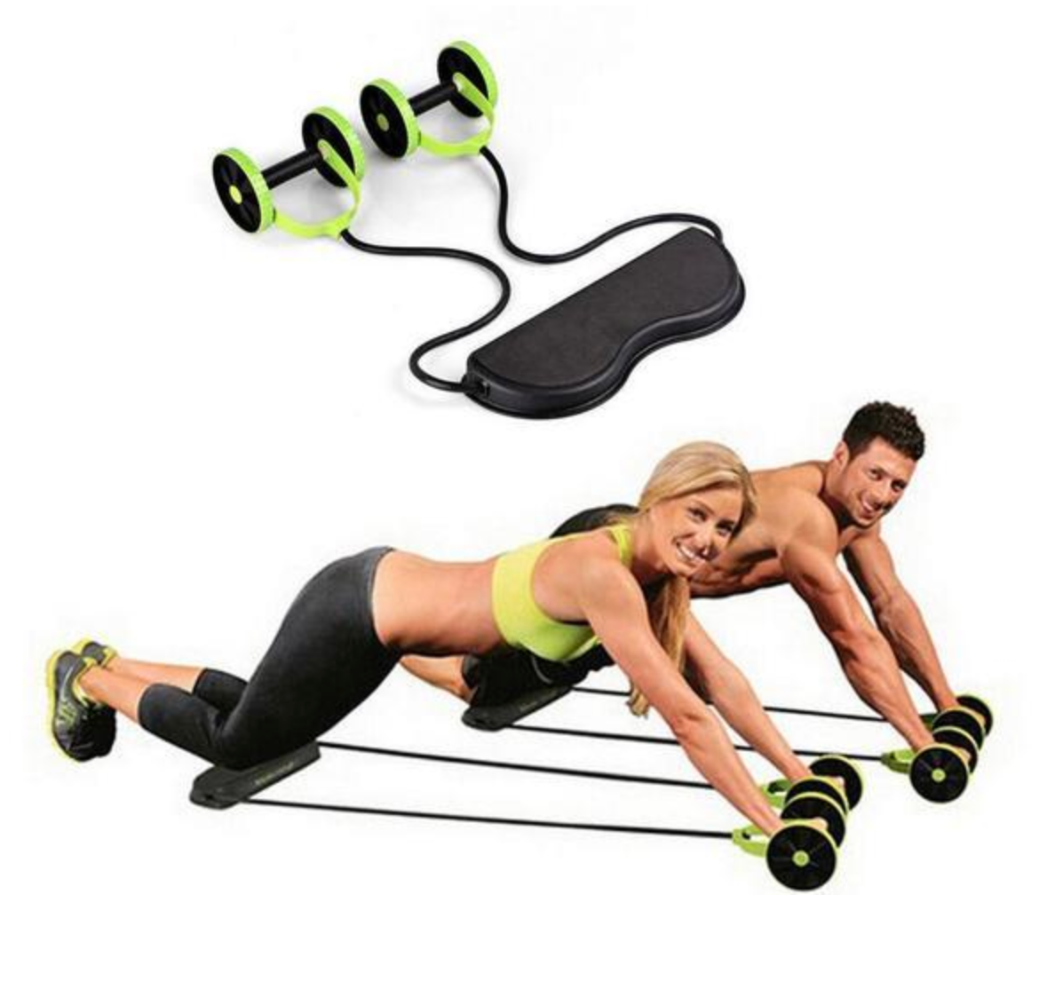 Ab Roller Wheel Fitness Machine Resistance Bands