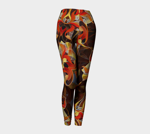 BLOOMING ORANGE, Leggings