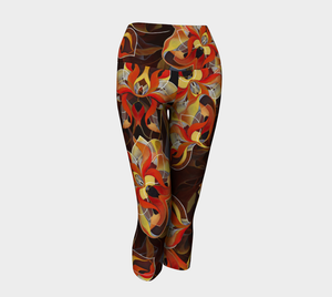 BLOOMING ORANGE, Yoga Capris