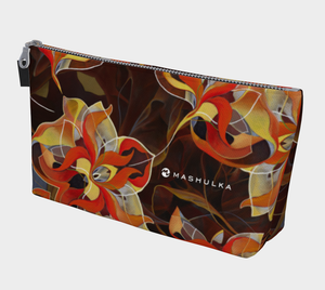 BLOOMING ORANGE, Makeup Bag