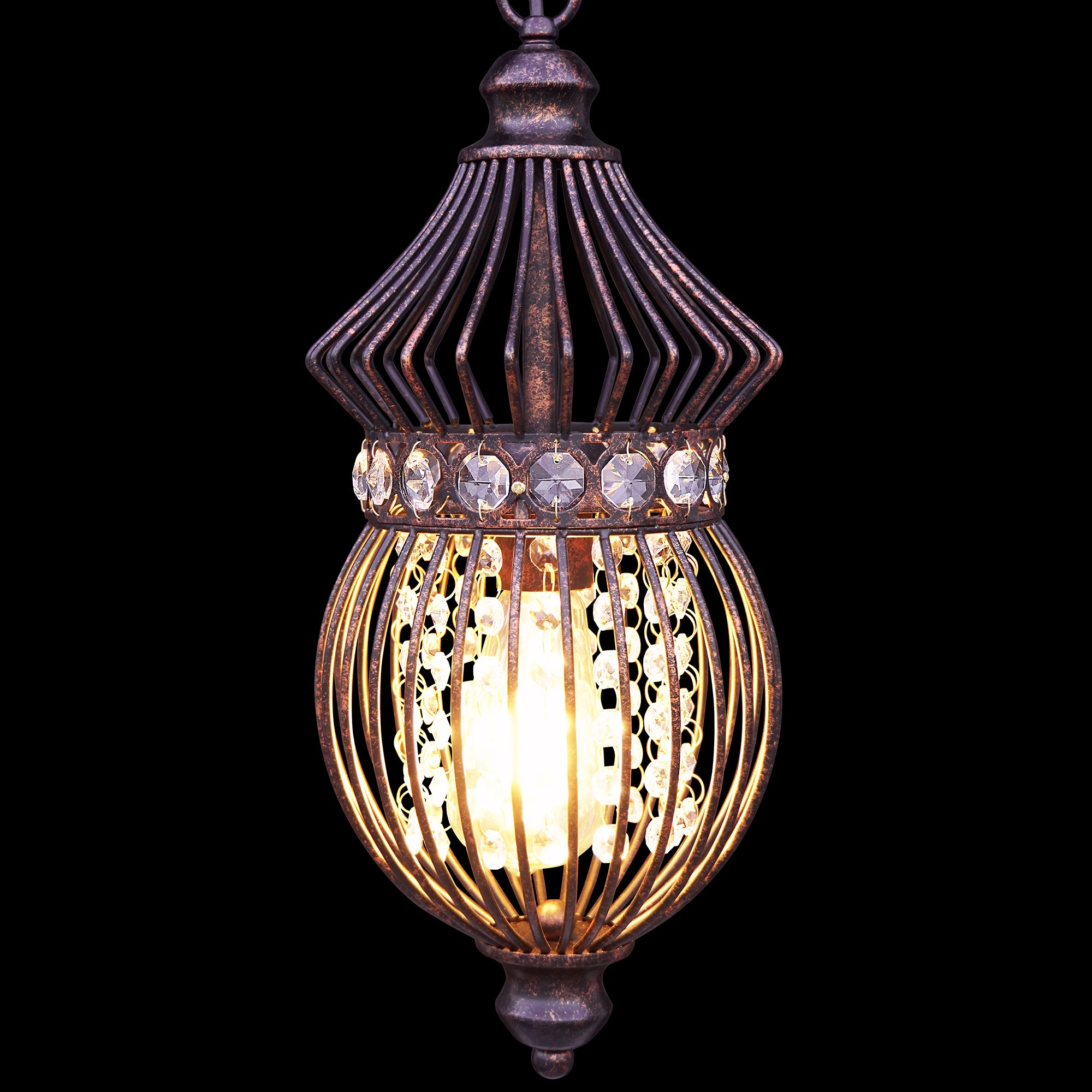 Starthi mini lantern crystal chandelier pendant light antique bronze starthi mini lantern crystal chandelier pendant light antique bronze wrought iron birdcage lamp arubaitofo Images