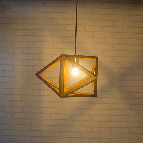 Modern Style Triangle Geometry Wooden Pendant Light