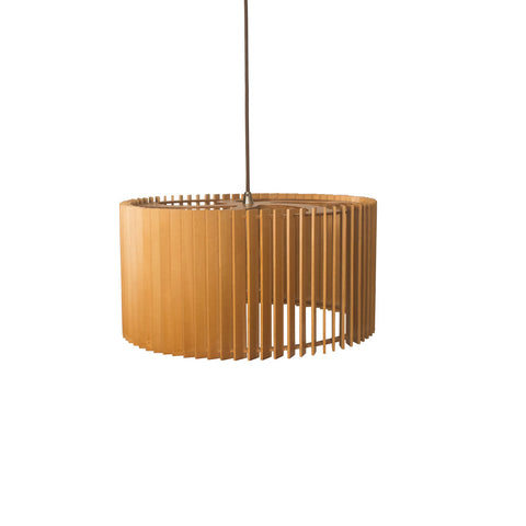 Natural Wooden Ceiling Pendant Lighting Cage