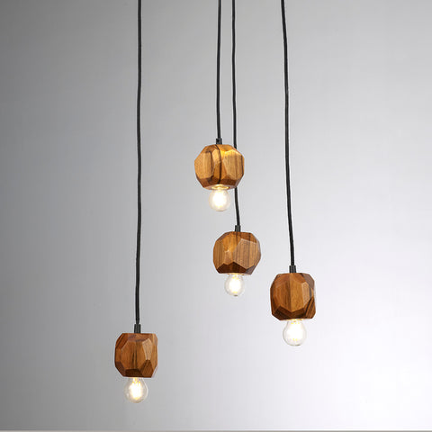 Modern Style Wooden Pendant Light for Indoor Decor