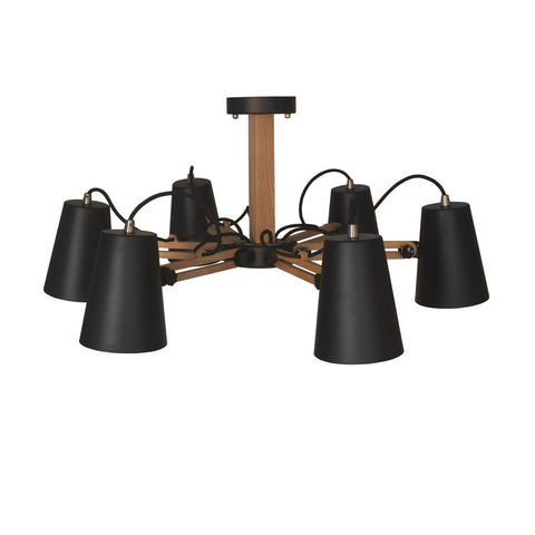 6-Light Metal Industrial Style Pendant Light