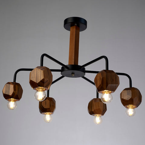 6-Light Metal Vintage Rustic Country Style Pendant Lamp
