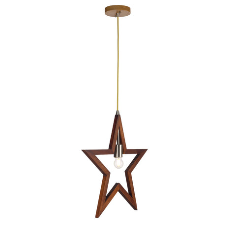 Pentacle Shape Pendant Wood Light