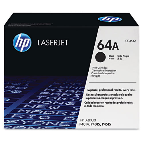 HP 64A, (CC364A) Black Original LaserJet Toner Cartridge