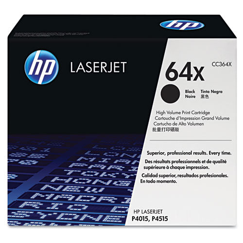 HP 64X, (CC364X) High Yield Black Original LaserJet Toner Cartridge