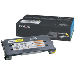 LEXC500H2YG, Lexmark Toner Cartridge Laser - High Yield - 3000 Pages - Yellow