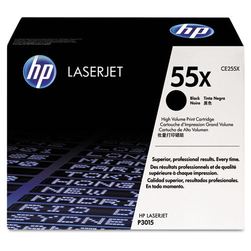 HP 55X, (CE255X) High Yield Black Original LaserJet Toner Cartridge
