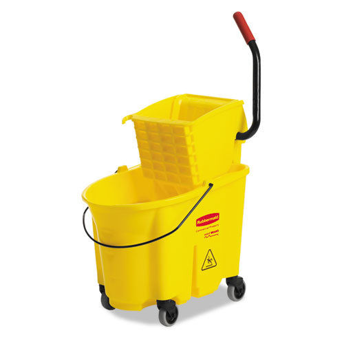 35 Quart Bucket/Wringer Combinations, Yellow, Wavebrake