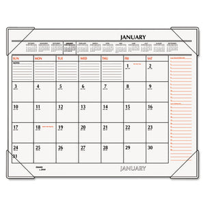 Calendar, Two-Color Monthly Desk Pad Calendar, 22 x 17, 2018