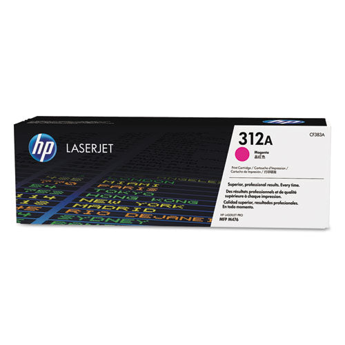 (CF383A) Magenta Original LaserJet Toner Cartridge, HP 312A