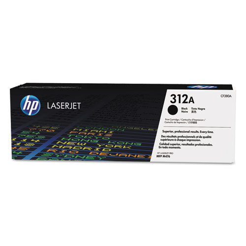 (CF380A) Black Original LaserJet Toner Cartridge, HP 312A