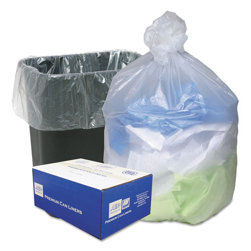 High Density Can Liners, 16gal, .315mil, 24 x 33, Natural, 200/Carton